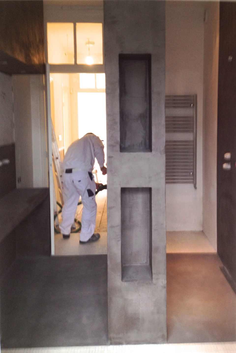 Betonlook badkamer met Beton Ciré